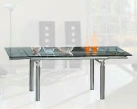 Glass Dining Room Tables With Extensions glass dining room table with extension house design ideas