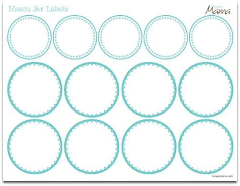 jar label template printable labels avery new calendar template site