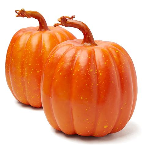 harvest orange artificial pumpkins fall and halloween