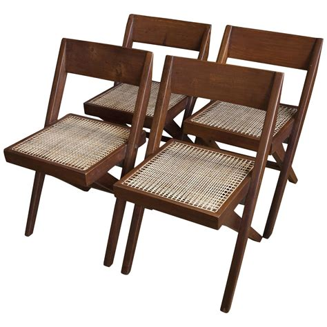 dining room chairs set of 4 set of four library chairs from chandigarh by pierre