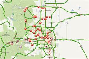 Colorado Traffic Map by Colorado Department Of Transportation Road Conditions
