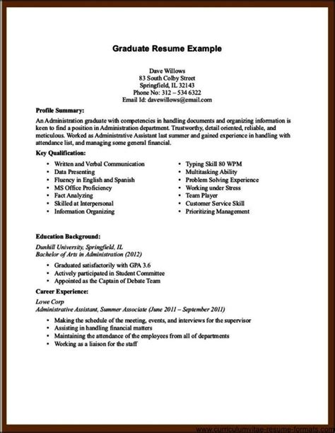 Free Resume Sles No Work Experience Resume Of Assistant With No Experience 28 Images Cna Resume No Experience Template Design