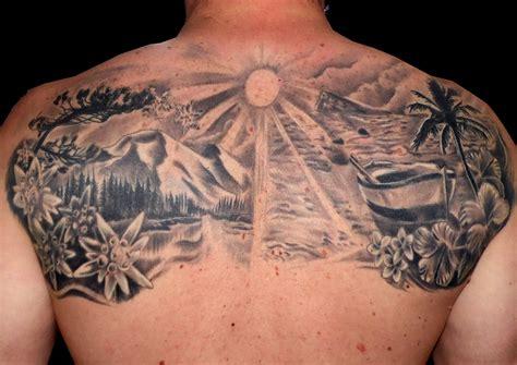 imagenes de paisajes tatuajes tatuaje imagenes tattoo paisaje espalda black grey blanco