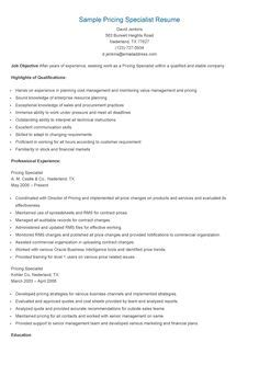 Pricing Specialist Sle Resume by Retail Management Trainee Resume Sle Resume Sles Resame Resume Html And Ps