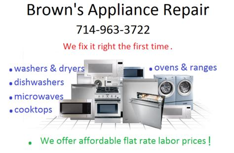 K And M Appliance Repair by Brown S Appliance Repair