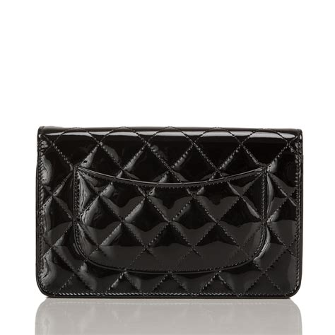 Chanel Classic Quilted Woc by Chanel Black Classic Quilted Patent Wallet On Chain Woc
