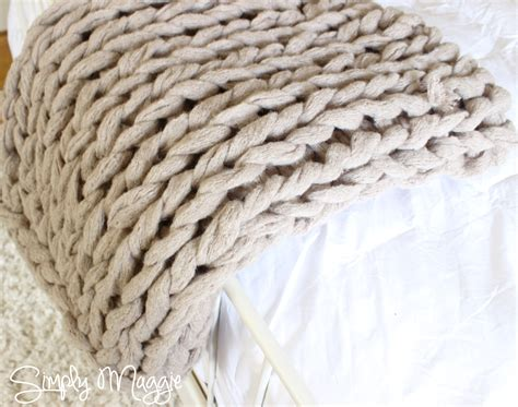 arm knit blanket arm knit a blanket in 45 minutes simplymaggie