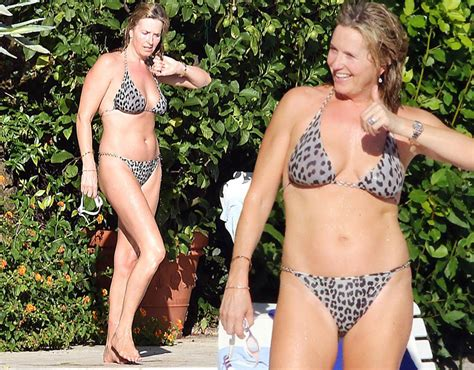 wife showing grey pubic hair in public rod stewart s wife penny lancaster 45 flaunts incredible