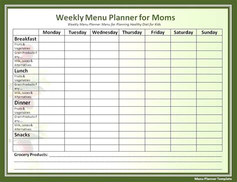 printable meal plan log printable 7 day diabetic food log printable