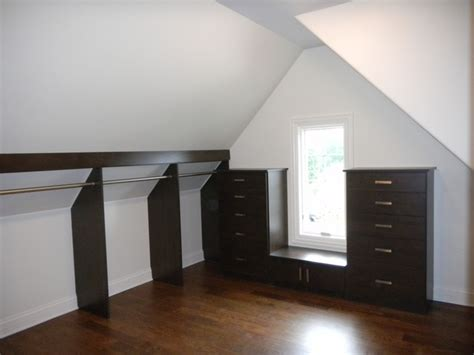 Slanted Ceiling Closet Design by Walk In Closet W Slanted Ceiling Closet Chicago By Closet Organizing Systems