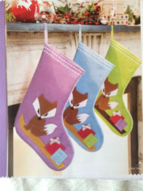 cute pattern stockings cute fox christmas stocking pattern easy new foxes