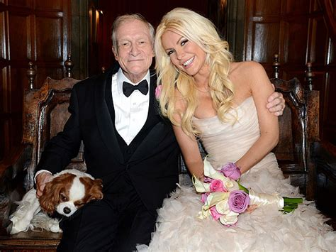 Hef And To Wed by Hugh Heffner Marries Harris Poses With