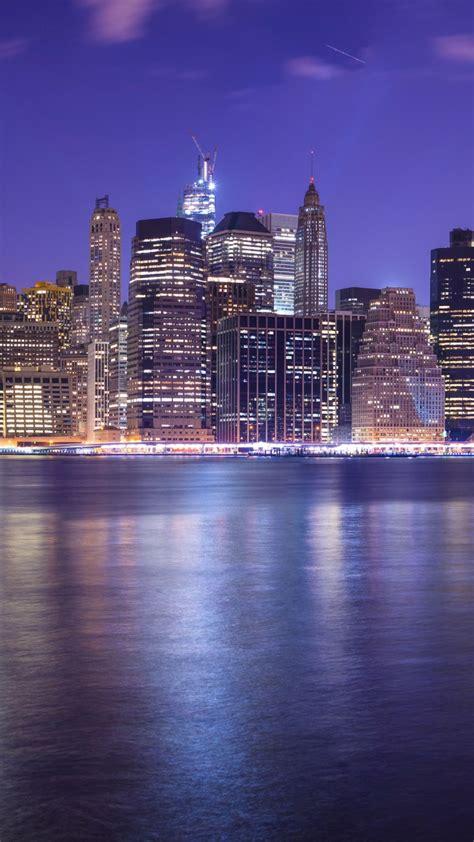 wallpaper  york city east river cityscape nightscape