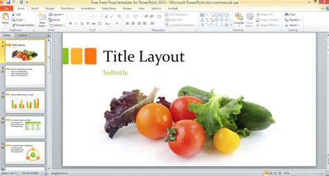 free fresh food template for powerpoint 2013