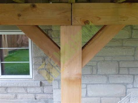 Patio Support Posts by Patio Deck Supporting Post Deckdesign Customdeck