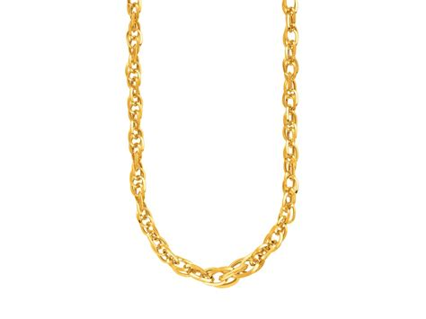 jewelry chain fancy prince of wales chain necklace in 14k yellow gold