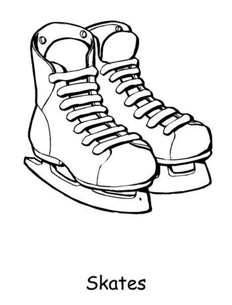 hockey skates coloring pages skates for winter coloring pages winter coloring pages