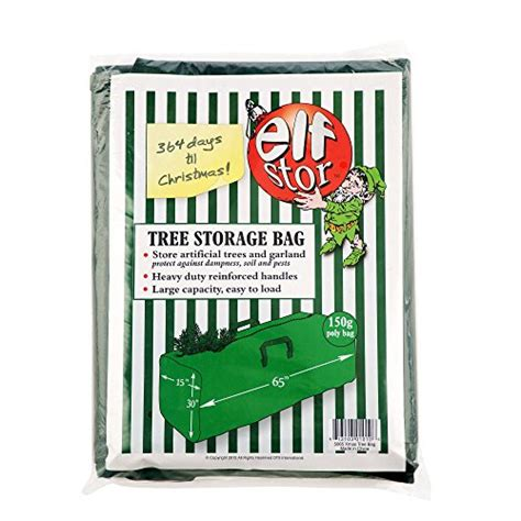 elf stor premium green christmas tree bag holiday extra large for up to 9 tree storage stor premium green tree bag large import it all