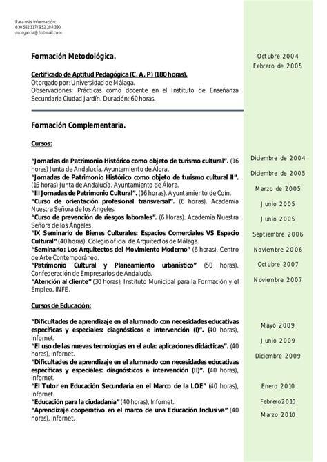 Modelo De Curriculum Junta De Andalucia Curriculum Vitae General 2013