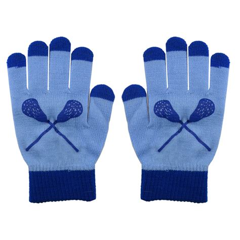 knit touchscreen gloves lacrosse touchscreen knit gloves carolina blue blue