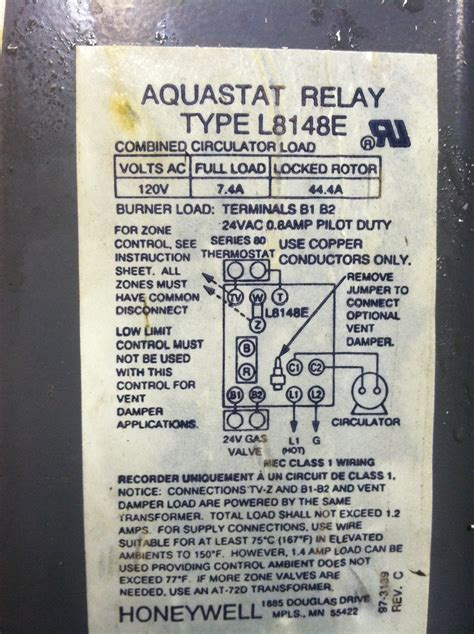 l8124a aquastat wiring diagram wiring diagram
