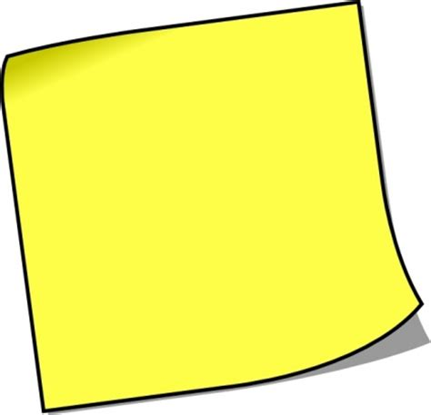 postit note clipart clipart best