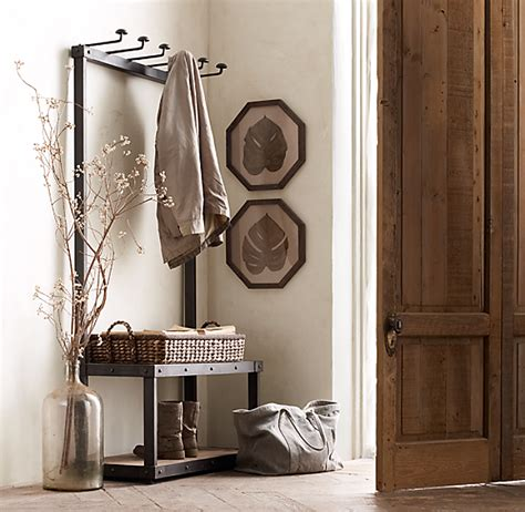 Restoration Hardware Entryway by Coat Rack Bench 5