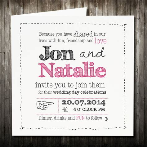 Wedding Invitation Rsvp by Personalised Sketch Wedding Invitation With Rsvp By Violet