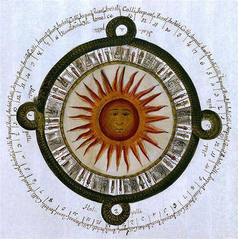 Sun Calendar Aztec Sun Calendar 1790 Photograph By Daniel Hagerman