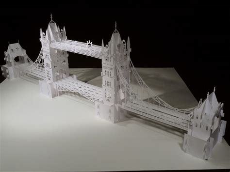 How To Make An Origami Bridge - the tower bridge pop up origami architecture