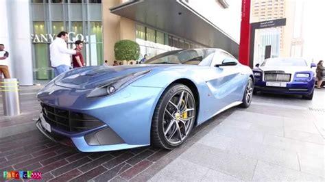 Ferrari Berlinetta Blue by Blue Ferrari F12 Berlinetta Dubai Mall Youtube
