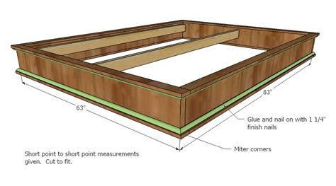 Diy Platform Bed Plans White Chestwick Platform Bed Size Diy Projects