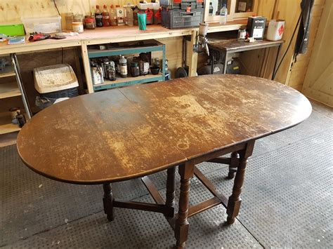 how to refinish oak table the complete refinish of oak gateleg table refinish restore