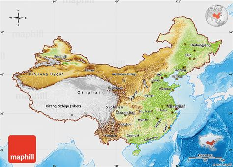 china physical map map china 点力图库