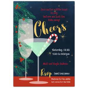 cheers cocktail invitations paperstyle