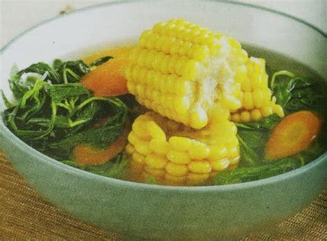 bundel resep sayur bening bayam jagung muda