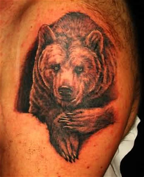 grizzly bear tattoos for men grizzly on s shoulder