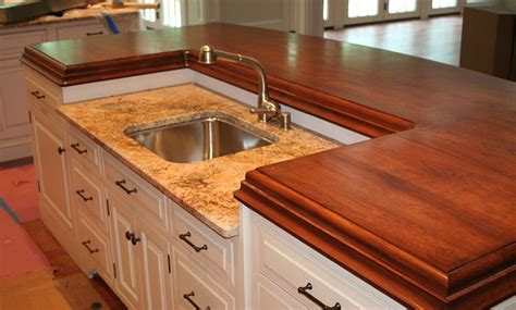 Island Countertop by American Cherry Wood Kitchen Island Countertop By