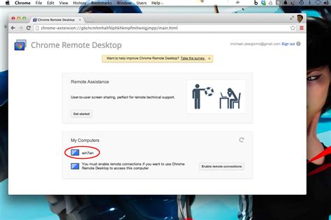 Chrome Remote Desk by Use Chrome Remote Desktop To Access Your Computer