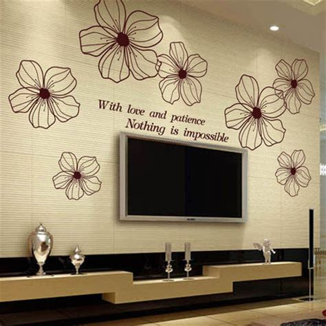 large flower wall stickers 40 90cm free shipping living room tv backdrop bedroom wall