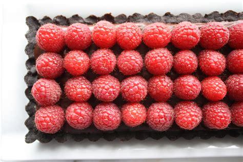 chocolate raspberry chocolate raspberry tart recipe dishmaps