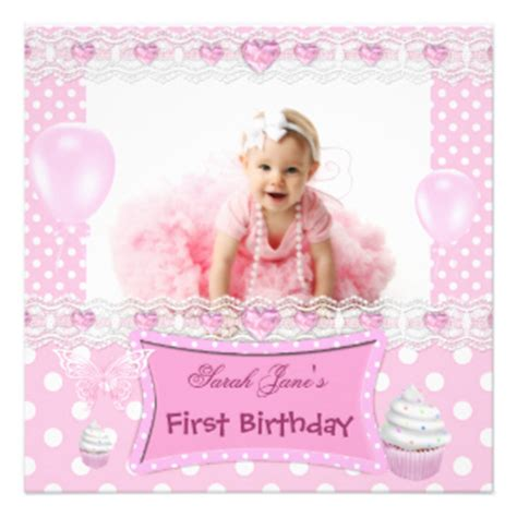 1st Birthday Invitation Card For Baby 1st Birthday Invitations Announcements Zazzle Co Uk