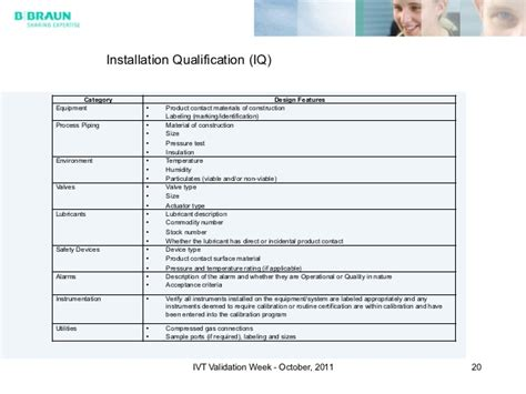 equipment installation qualification template equipment qualification