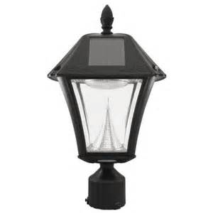 home depot solar post lights gama sonic baytown ii solar black resin outdoor post light