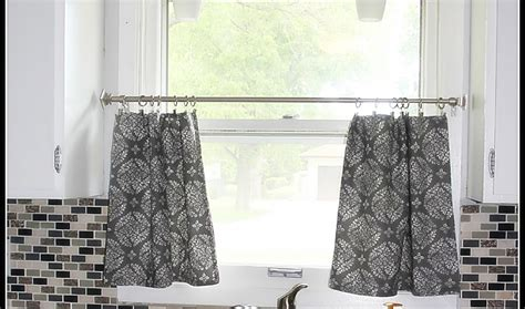 Black White And Gray Kitchen Curtains Valance Yellow Cafe