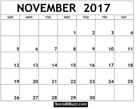 printable calendar november 2017 to december 2018 november 2017 calendar pdf http socialebuzz com november