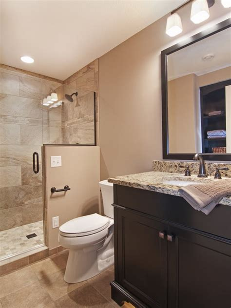 Basement Bathroom Design | accessible basement bathroom ideas with tasteful and less