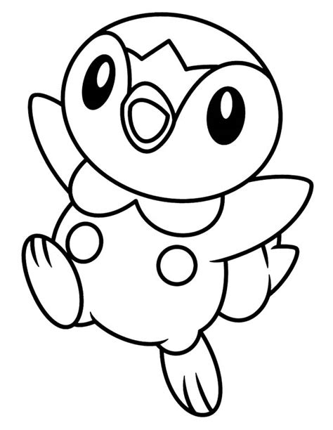 pokemon coloring pages torchic free coloring pages of pokemon piplup 3352