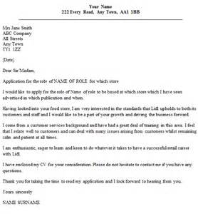 lidl cover letter exle cover letters and cv exles