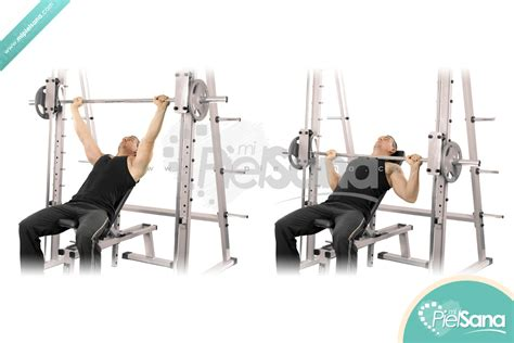 how to incline bench press incline smith presses